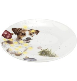"Royal Selangor Portmeirion WRENDALE COUPE PLATE 6.5"" Dog & Mouse/ SET OF 2"