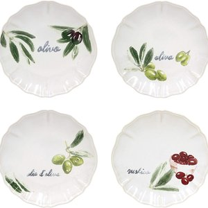 Casafina OLIVIA Appetizer Plates/ Set of 4