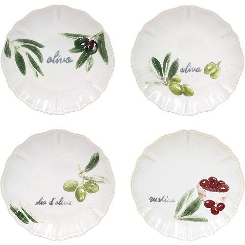 David Shaw Tableware OLIVIA Appetizer Plates/ Set of 4