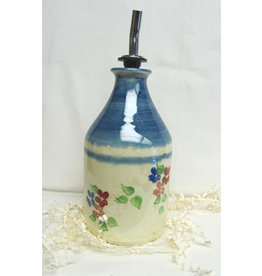 French Made Cruet Straight-sided BLUE SOULEO PROVENCE