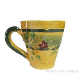 French Made Mug cappuccino yellow SOULEO PROVENCE