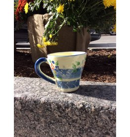 French Made Mug Flared BLUE SOULEO PROVENCE