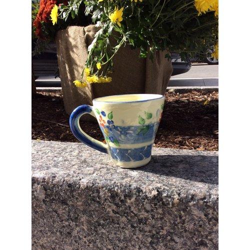 French Made Mug Flared BLUE SOULEO PROVENCE