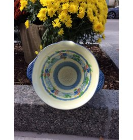 French Made Bowl Salad with garlic grater BLUE SOULEO PROVENCE