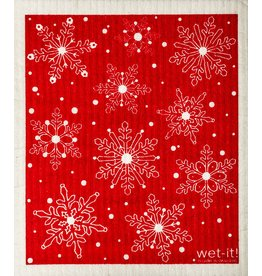 Swedish Cloth Swedish Cloth Red Snow Flakes