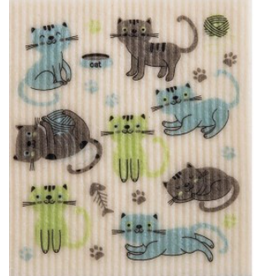 Swedish Cloth Swedish Cloth Cats at Play