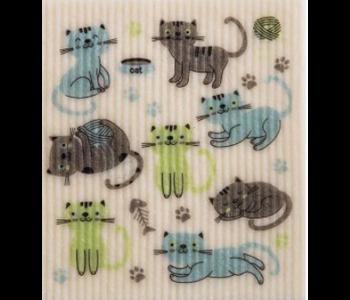 Swedish Cloth Cats at Play
