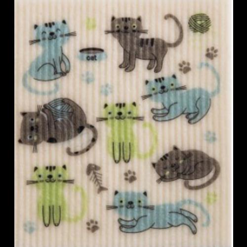 Swedish Cloth Swedish Cloth Cats at Play