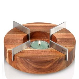 Adhoc ADHOC TEAPOT & FOOD WARMER - WOOD/Stainless Steel