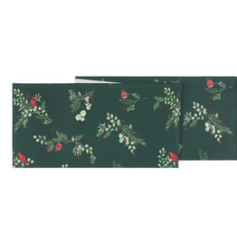 "Danica Table Runner Forest Birds Print 13"" x 72"""