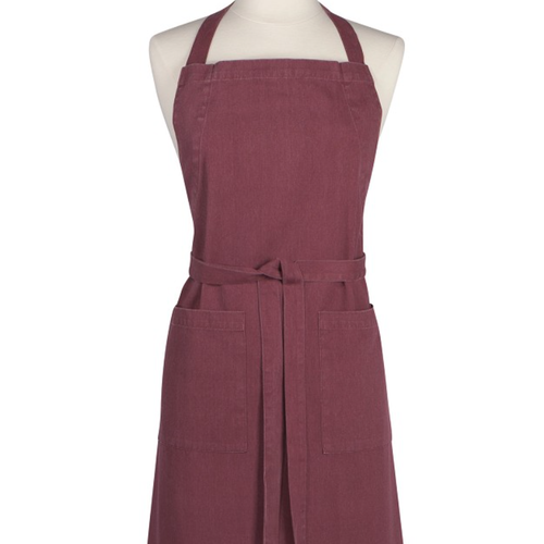 Danica APRON HEIRLOOM STONEWASH WINE