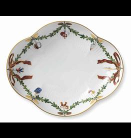 ROYAL COPENHAGEN  CHINA Star Fluted Christmas  Dish 22 cm ROYAL COPENHAGEN