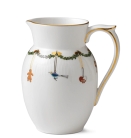 ROYAL COPENHAGEN  CHINA Star Fluted Christmas Jug  900 ml.ROYAL COPENHAGEN