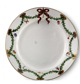 "ROYAL COPENHAGEN  CHINA Star Fluted Christmas  Dessert Plate 7.5"" ROYAL COPENHAGEN"