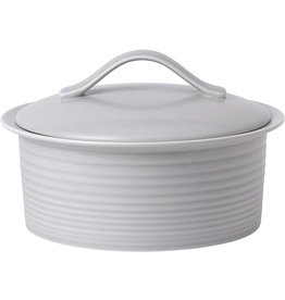 Royal Doulton MAZE Covered Casserole Light Grey 24 cm GORDON RAMSAY
