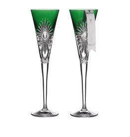 WWRD Canada Times Square Flute Emerald/ Set of 2 WATERFORD