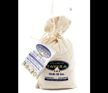 SEA SALT (Flor de Sal) 250 gr. in Linen Bag