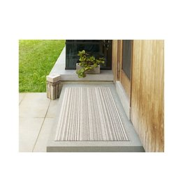 "Chilewich DOORMAT SHAG SKINNY STRIPE BIRCH 18"" X 28"""