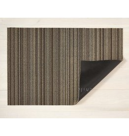 "Chilewich BIG MAT Skinny Stripe Shag MUSHROOM 36"" X 60"""