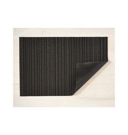 "Chilewich DOORMAT Skinny Stripe Shag STEEL 18"" x 28"""