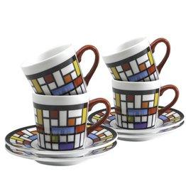 Danesco Espresso Cup & Saucer Mosaic Set/4