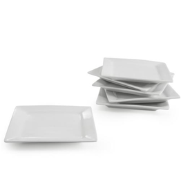 B.I.A. Plate Square Canape White / Set of 6