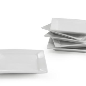 BIA Plate Square Canape White / Set of 6