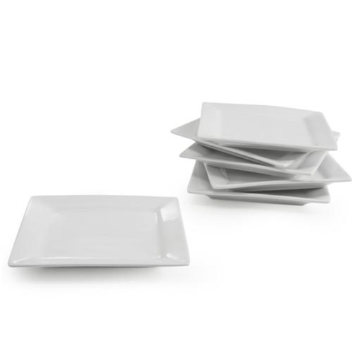 B.I.A. Plate Square Canape White / Set of 6