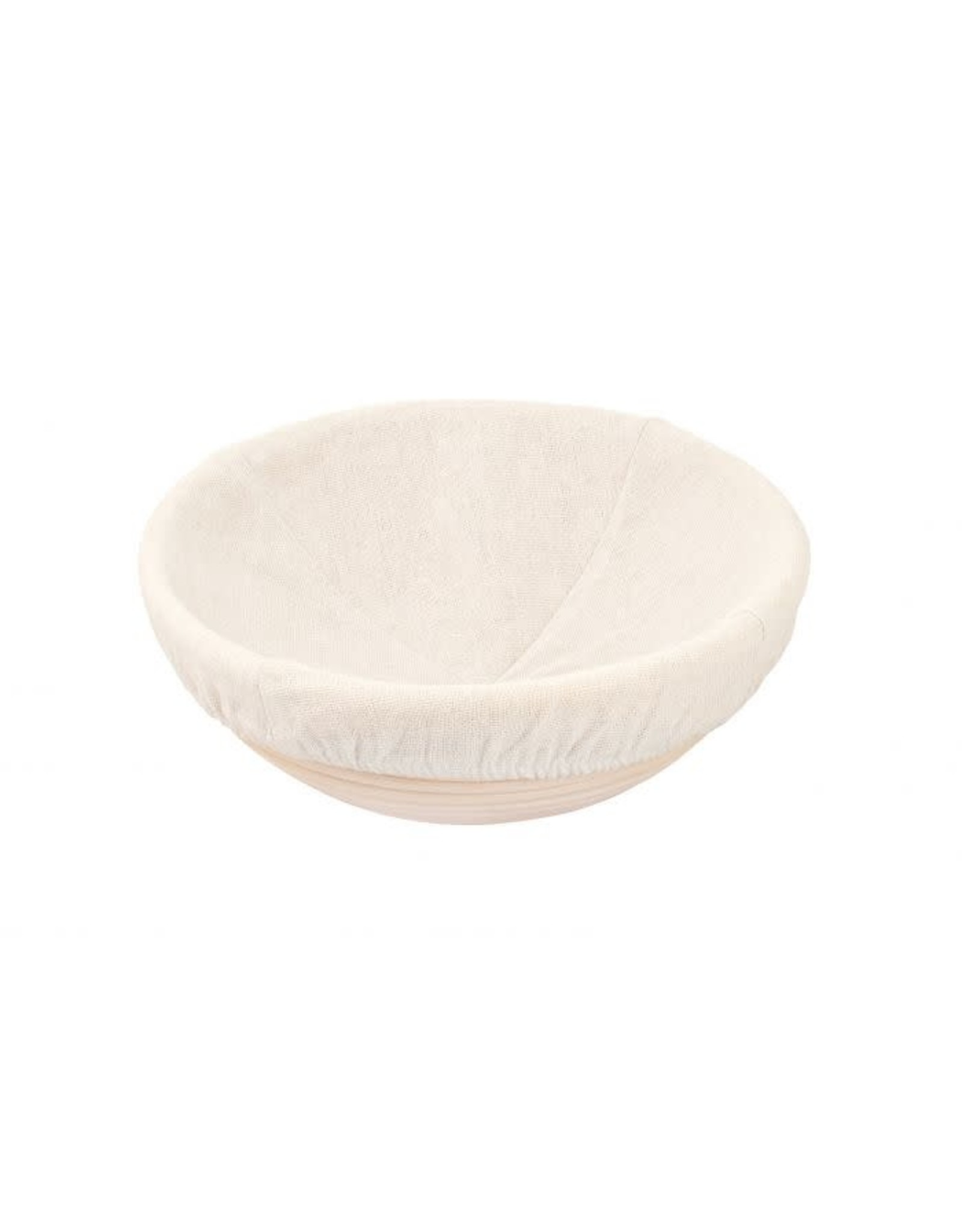 Harold Import Company BANNETON Round Basket 23.5 cm wide with liner