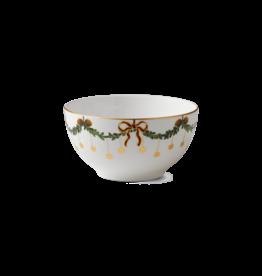 ROYAL COPENHAGEN  CHINA Star Fluted Christmas  Chocolate Bowl 10oz ROYAL COPENHAGEN