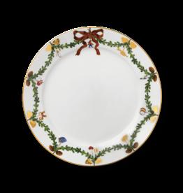 "ROYAL COPENHAGEN  CHINA Star Fluted Christmas  Dinner Plate 10,75"" ROYAL COPENHAGEN"