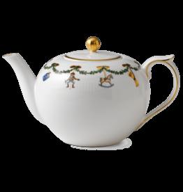ROYAL COPENHAGEN  CHINA Star Fluted Christmas Teapot 1.5qt ROYAL COPENHAGEN