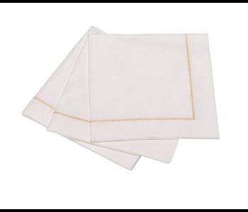 Cocktail napkin hemstich golden