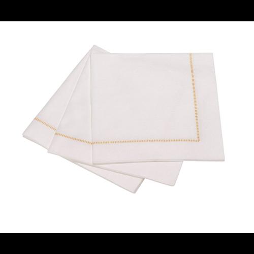 The Napkin Cocktail napkin hemstich golden