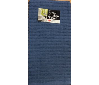 TEA TOWEL SOLID TERRY FEDERAL BLUE