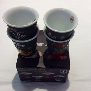 Carol's Nicetys Espresso Cup Set 4 Piece Italian