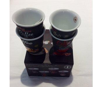 Espresso Cup Set 4 Piece Italian