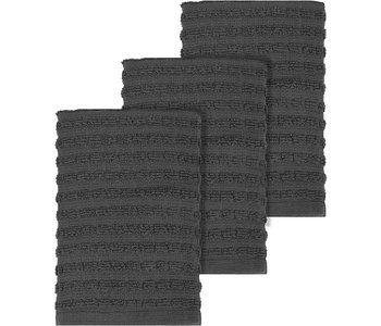 DISH CLOTH SOLID TERRY GRAPHITE GREY