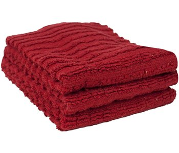 DISH CLOTH SOLID TERRY PAPRIKA RED