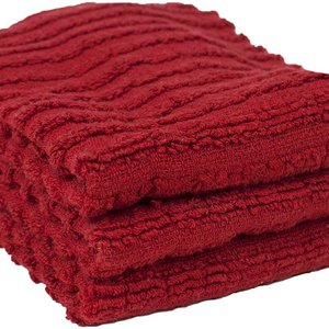 Ritz TEA TOWEL SOLID TERRY PAPRIKA RED