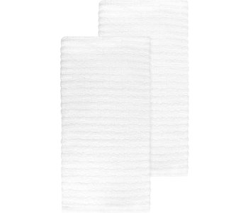 TEA TOWEL SOLID TERRY WHITE
