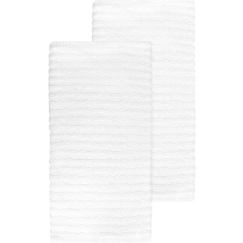 Ritz TEA TOWEL SOLID TERRY WHITE