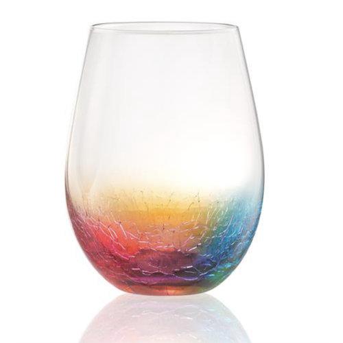 Artland CRACKLE STEMLESS WINE GLASS