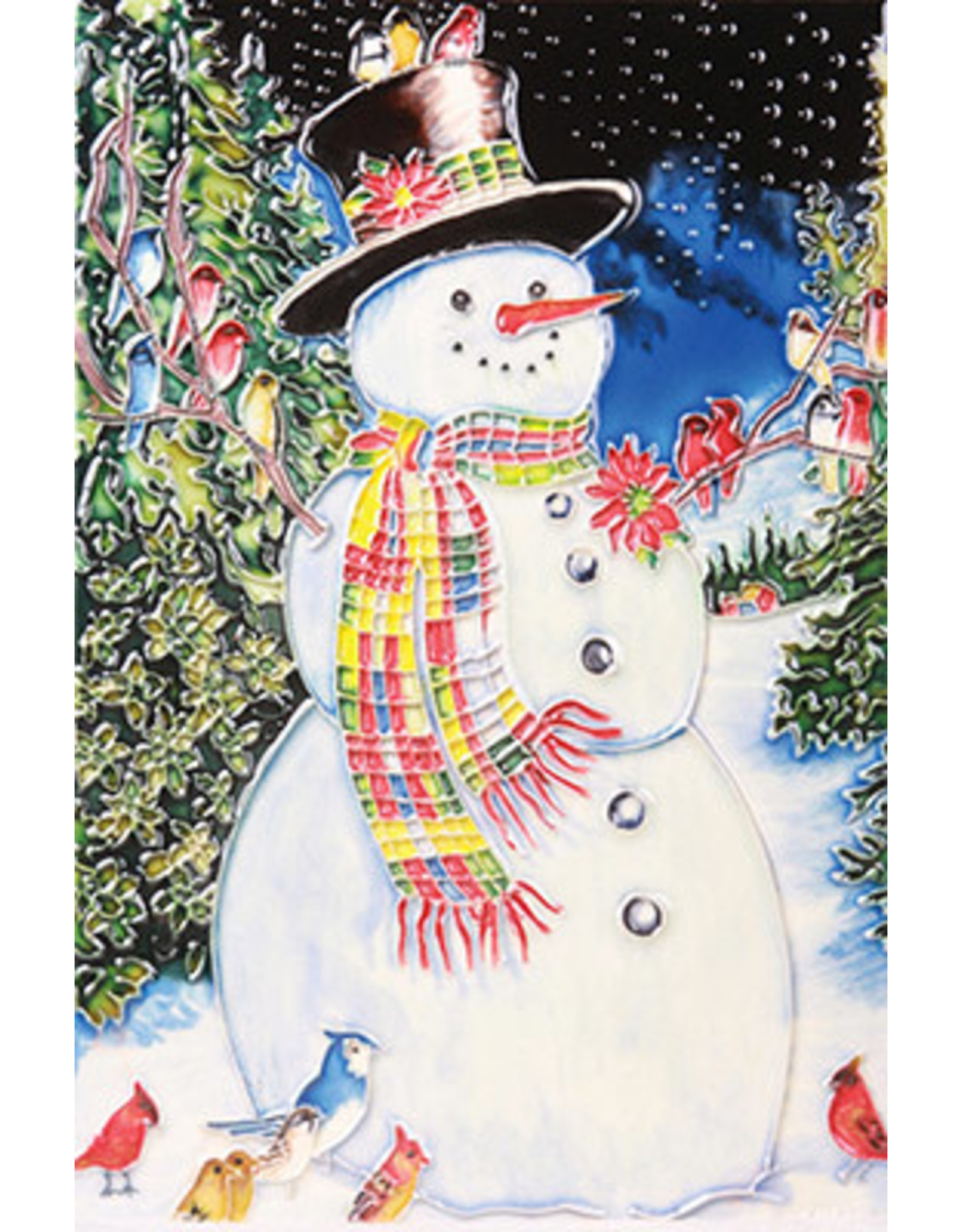 "Benaya Handcrafted Art Decor TILE - A SNOWMAN'S CHORUS - 8"" x 12"""