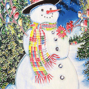 "Benaya Handcrafted Art Decor TILE - A SNOWMAN'S CHORUS - 8"" x 12"""
