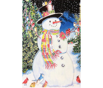 """TILE - A SNOWMAN'S CHORUS - 8"""" x 12"""""""