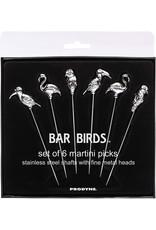 Fox Run Bar Birds Martini Picks S/6