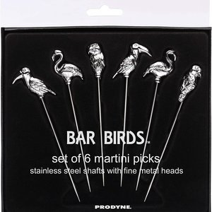 Fox Run Bar Birds Martini Picks S/6