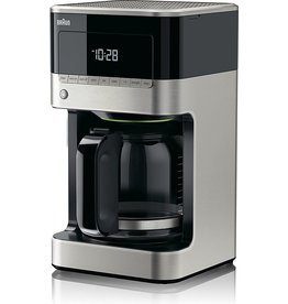 DELONGHI BRAUN 12-CUP DIGITAL COFFEE MAKER Black & Stainless