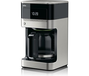 BRAUN 12-CUP DIGITAL COFFEE MAKER Black & Stainless